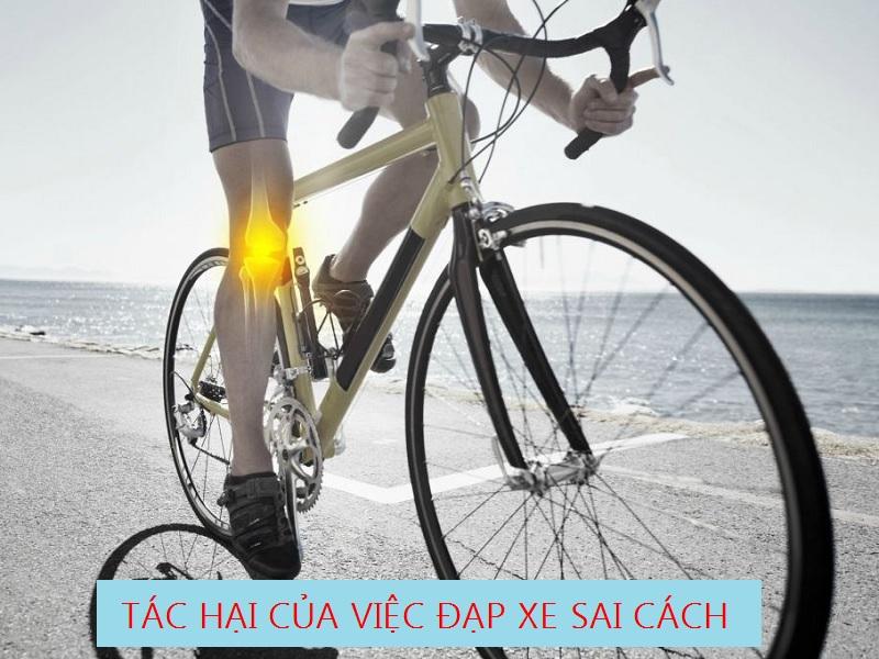 tác hại của đi xe đạp sai cách