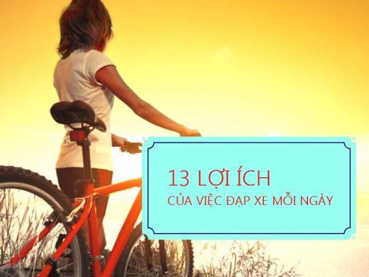 lợi ích của việc đi xe đạp