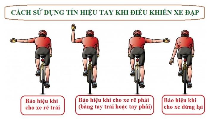 Cách sử dụng tín hiệu tay khi điều khiển xe đạp