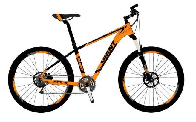 xe đạp thể thao Giant ATX 850 2018 màu cam-đen